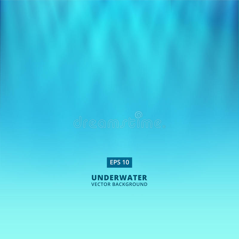Underwater scene with light from above vector background vector illustration