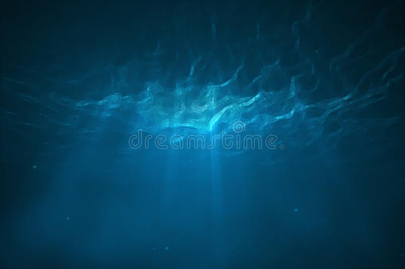 Underwater scene with light royalty free illustration