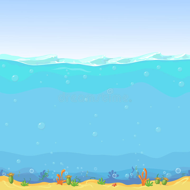 Free Underwater Seamless Landscape, Cartoon Background For Game Design Royalty Free Stock Photo - 66453465