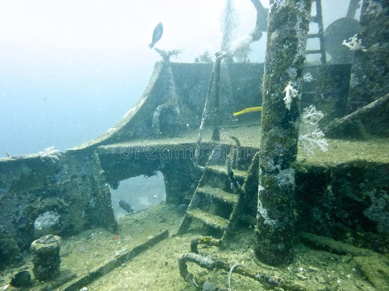 Underwater Ship Wreck stock photography