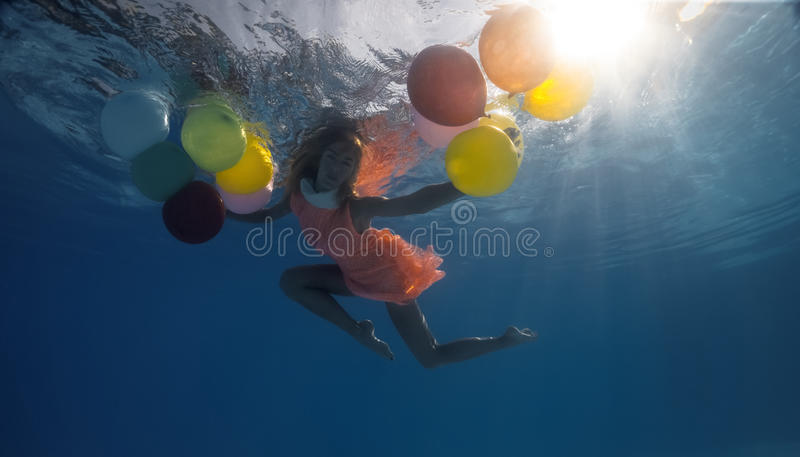 Underwater shoot royalty free stock photography