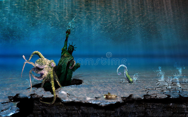Download Underwater Sightseeing Tour Stock Photo - Image of liberty, statue: 11545160