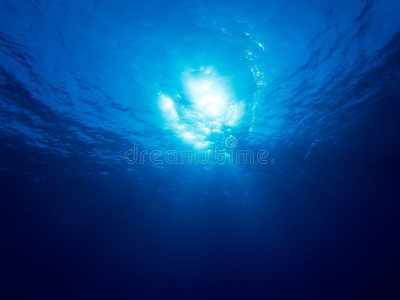 Underwater Sunlight Beams And Shine Royalty Free Stock Photo