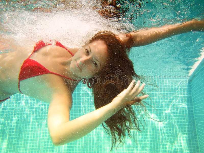 Download Underwater swim stock photo. Image of under, summer, mermaid - 27736710