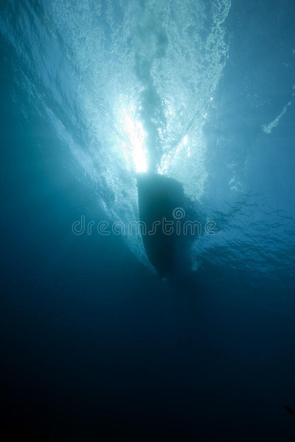 Free Underwater View Of A Boat Royalty Free Stock Photos - 12860868