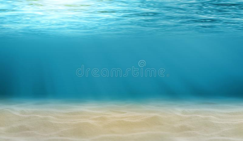 Underwater view of the sea stock photography