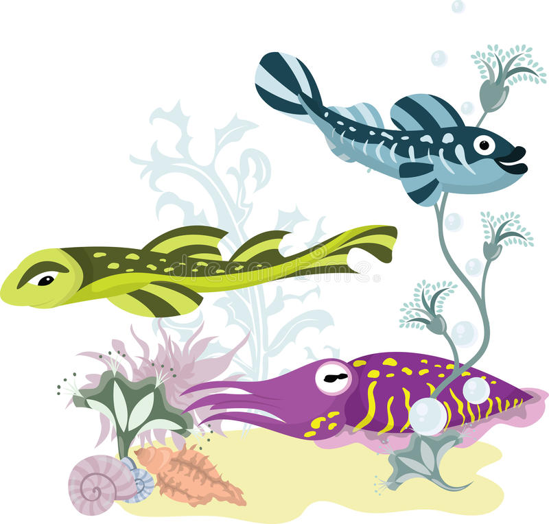 Download The underwater world stock vector. Image of themes, swimming - 22133422