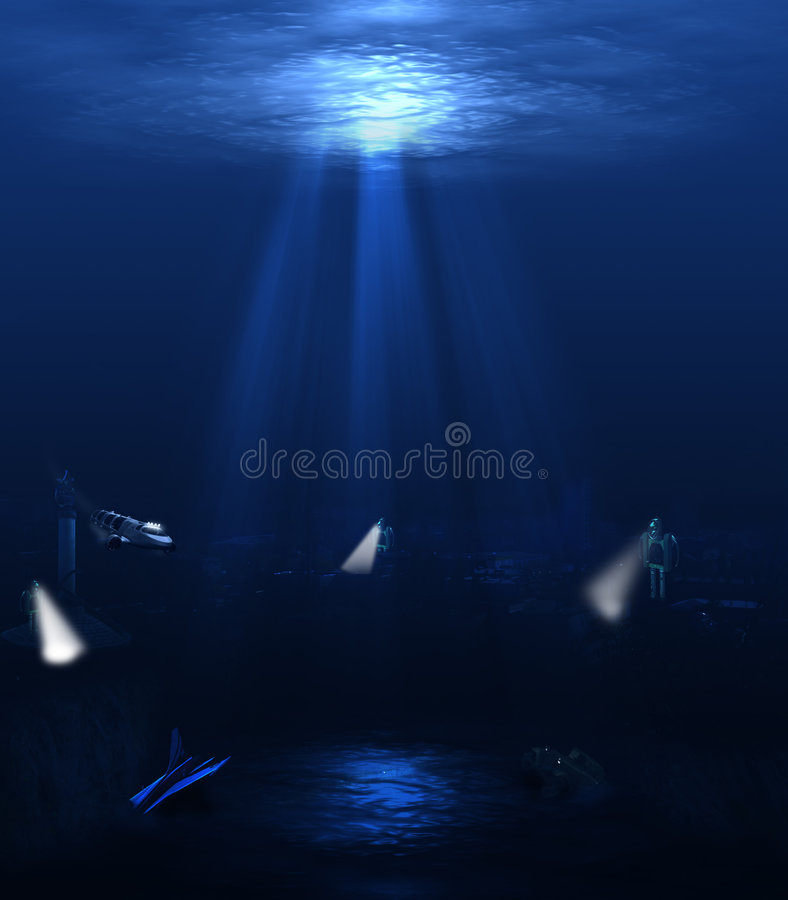 Underwater world royalty free stock photos