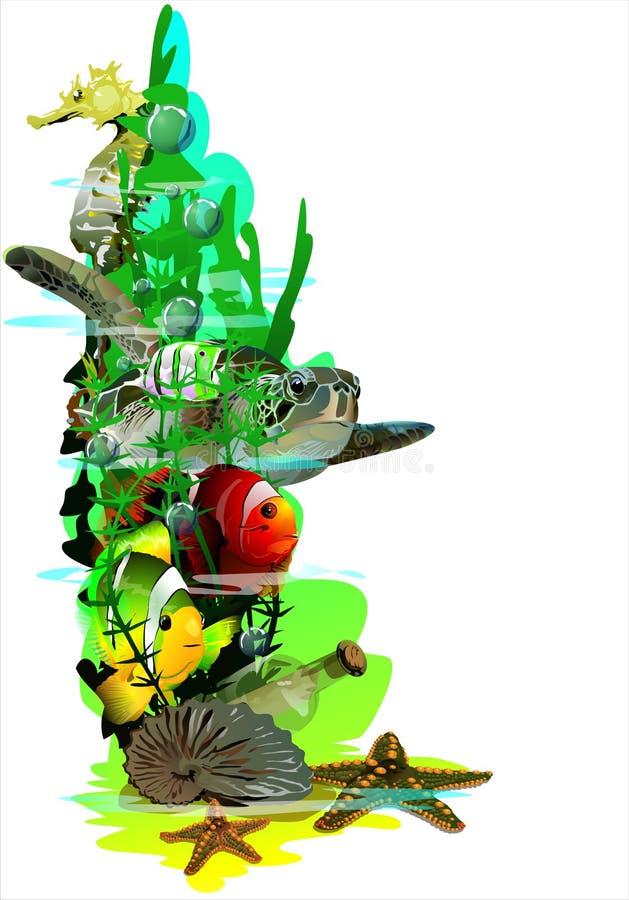 The underwater world. (Vector) vector illustration