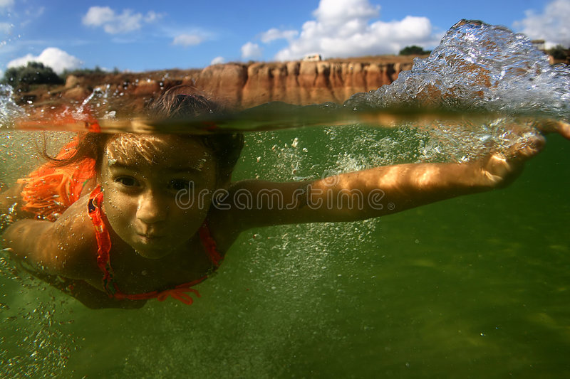 Download Underwater11 photo stock. Image du nageur, récréation, visage - 728268