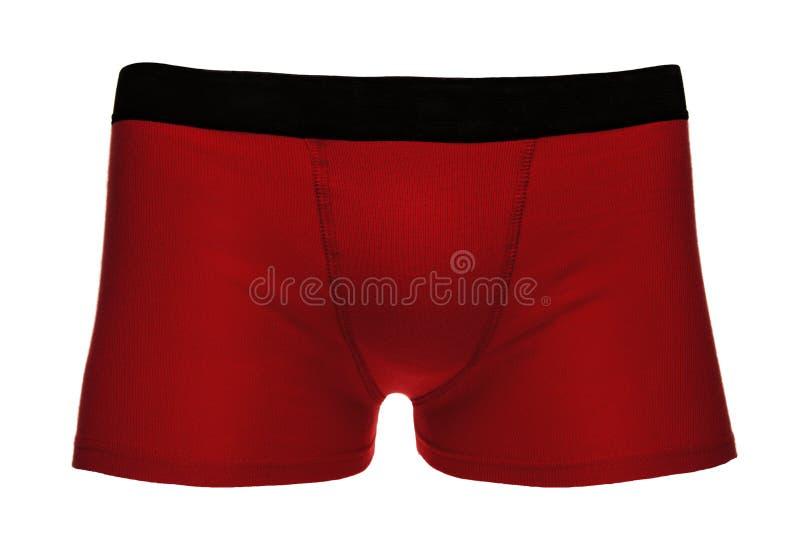 Red model men underwear stock photography