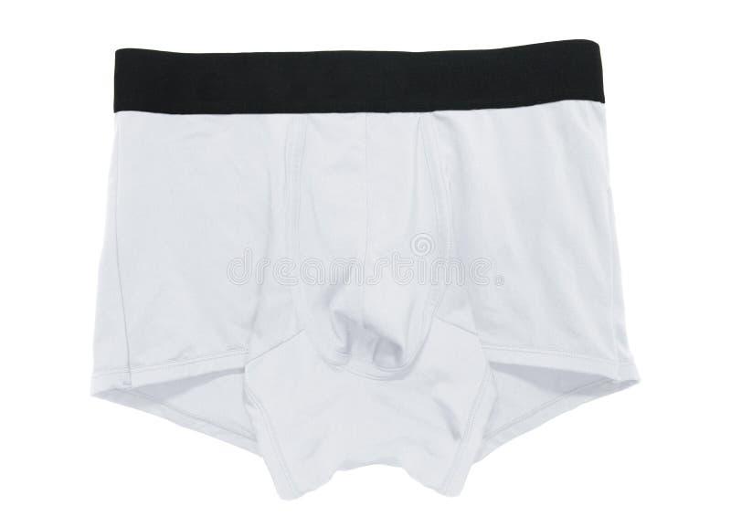 Underwear boxer brief color white stock photography