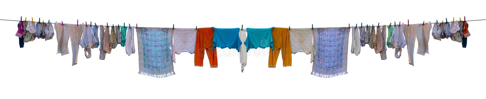 Download Underwear drying on a rope stock image. Image of blue - 26330791
