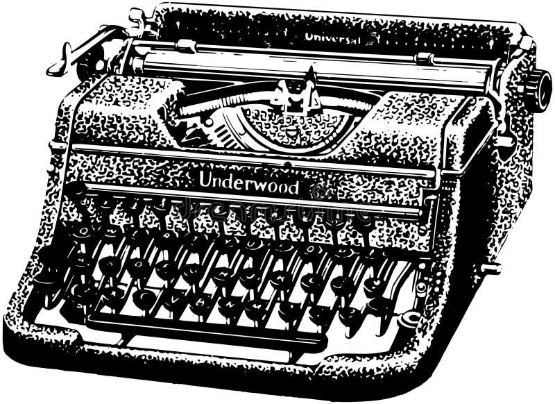 Underwoodschrijfmachine vector illustratie