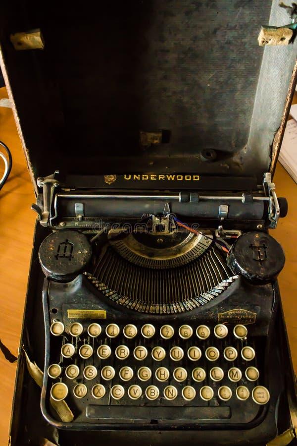 Underwoodschrijfmachine van de Jaren '30 van de Laatste Eeuw stock foto