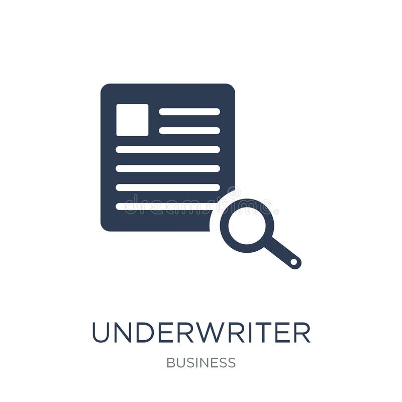 Underwriter (insurance) icon. Trendy flat vector Underwriter (insurance) icon on white background from business collection royalty free illustration