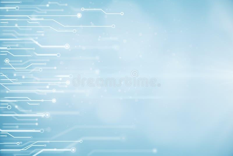 Undeutliche blaue Stromkreisbeschaffenheit stock abbildung
