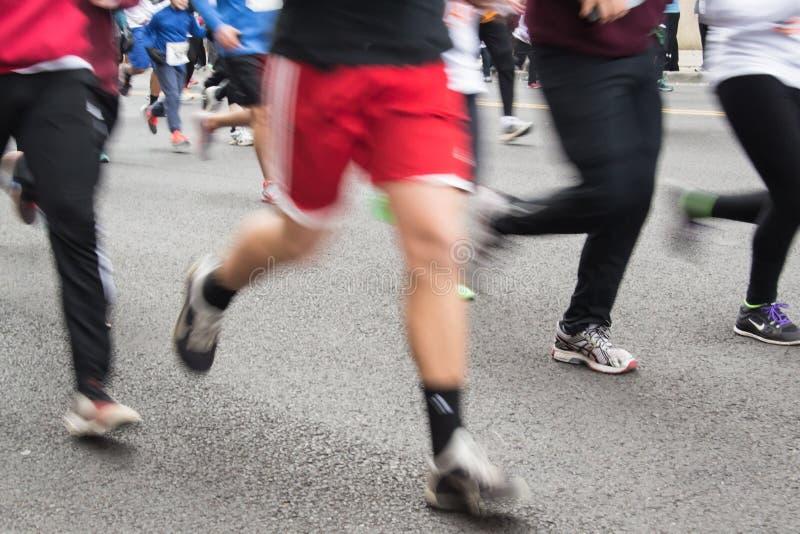 Undeutliche Läufer am Trommelstock-Schlag, Roanoke, Virginia, USA lizenzfreies stockbild