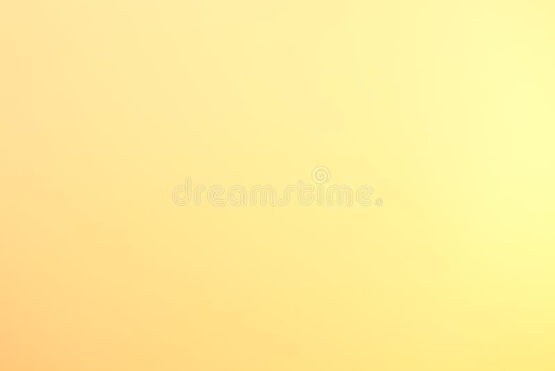 Undeutliche Pastellfarbe des Hintergrundes weiches hellgelbes Gold, helle Beschaffenheit der grafischen abstrakten Kunst der gelb lizenzfreie stockfotografie