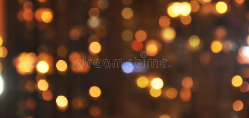 Undeutliche Stadt beleuchtet Hintergrund. lizenzfreie stockbilder
