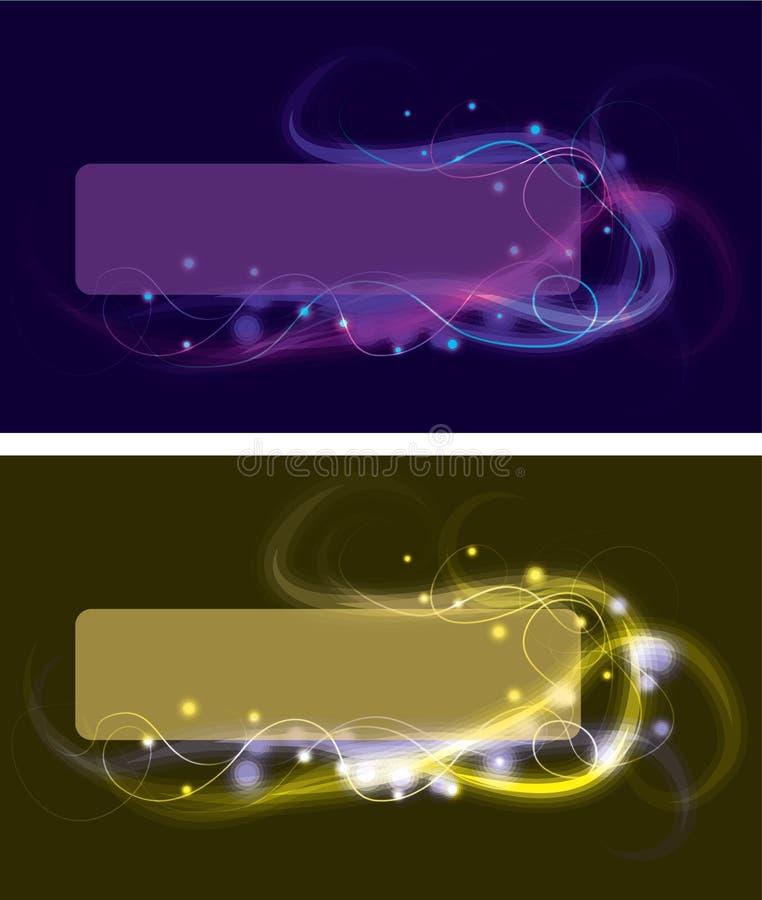 Undeutliche wirbelnde Lichteffektkästen vektor abbildung