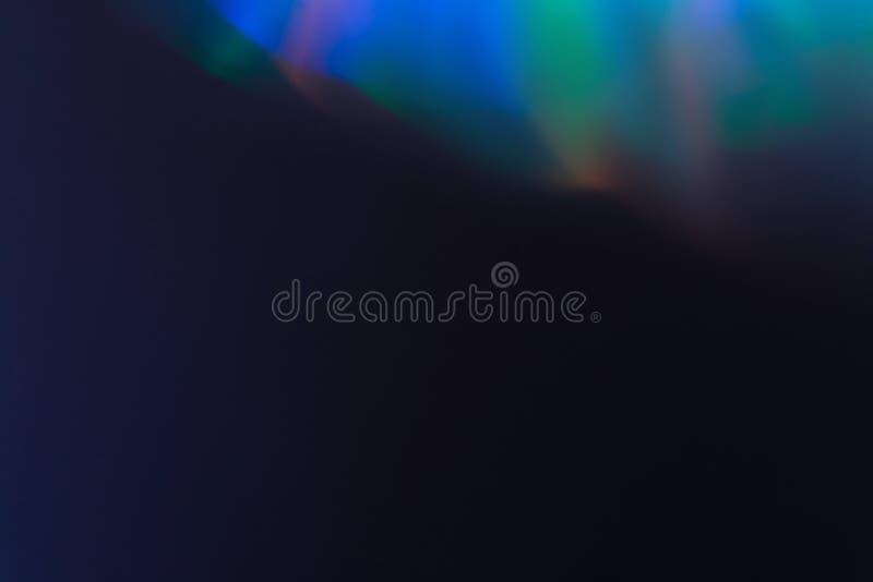 Undeutlicher Schein des weichen Lichtes des Glühens der optischen Linse wirklich stockfoto