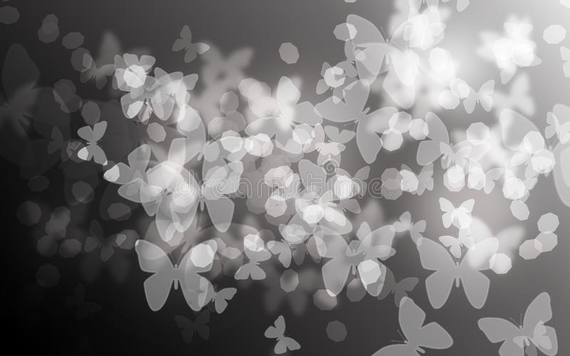 Undeutlicher Schmetterling bokeh Hintergrund lizenzfreie stockfotografie