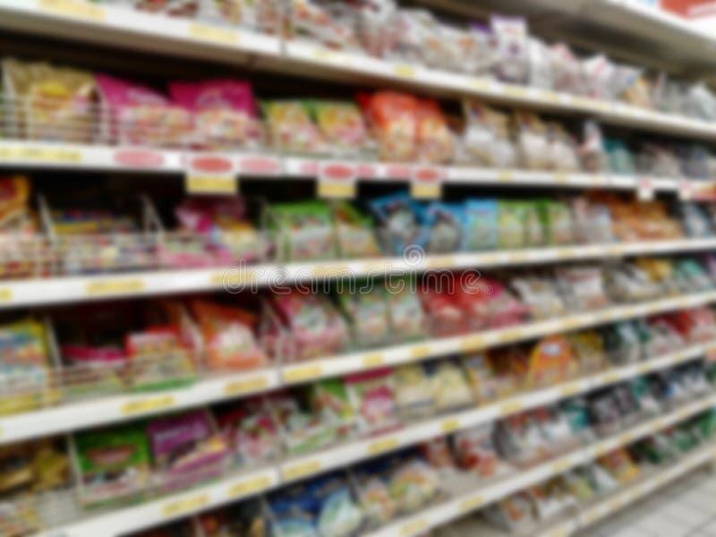 Undeutlicher Supermarkt lizenzfreie stockbilder