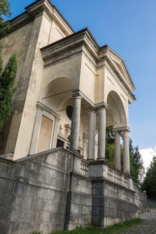 Undicesima cappella a Sacro Monte di Varese L'Italia immagini stock