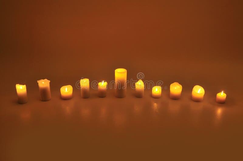 Undici candele fotografie stock libere da diritti