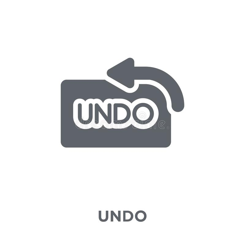 Undo icon from collection. stock illustration