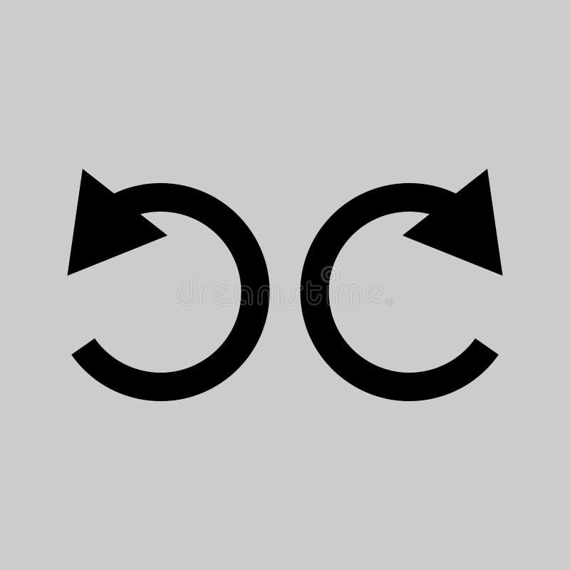 Undo and redo icon vector illustration