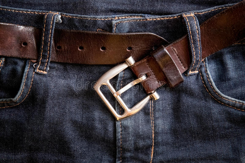 Undone belt buckle royalty free stock images