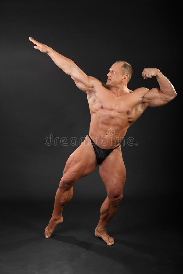 Download Undressed Bodybuilder Aiming For Punch Stock Image - Image: 24227483