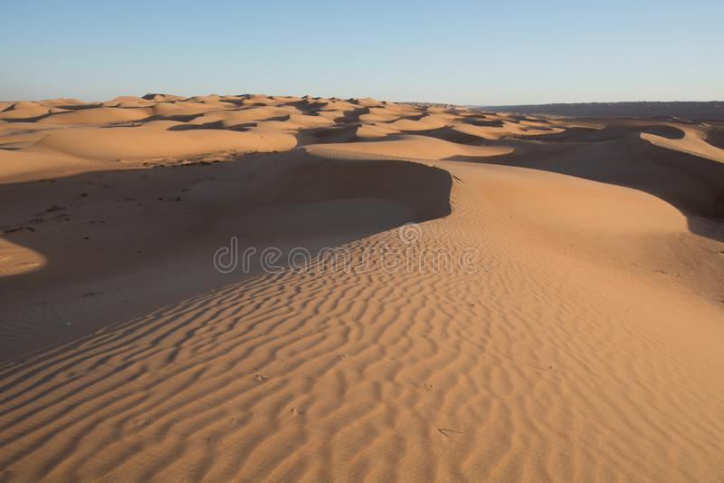 Wahibah Sands Dune Bashing royalty free stock photo
