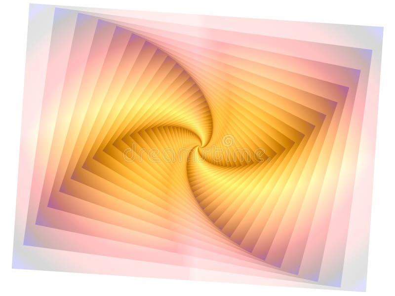 Undurchlässiges Pinwheel-Spirale-Muster vektor abbildung