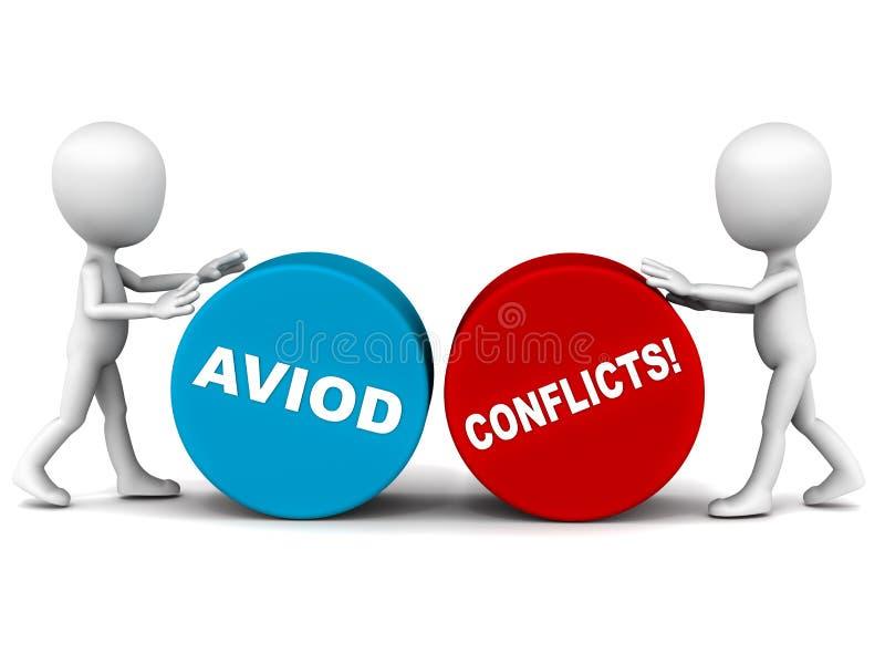 Undvik konflikten stock illustrationer