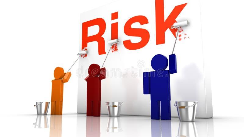 Undvik risken med teamwork vektor illustrationer