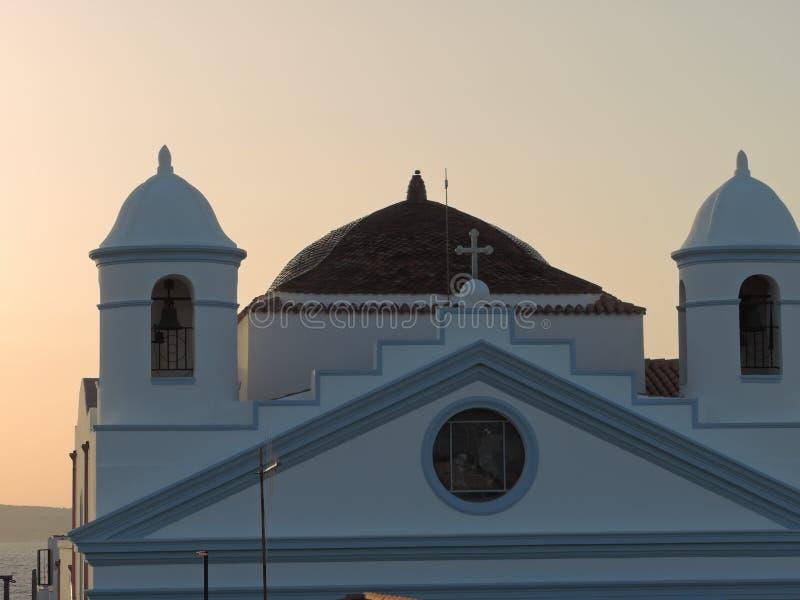 Une église antique en Sardaigne, Italie photographie stock libre de droits