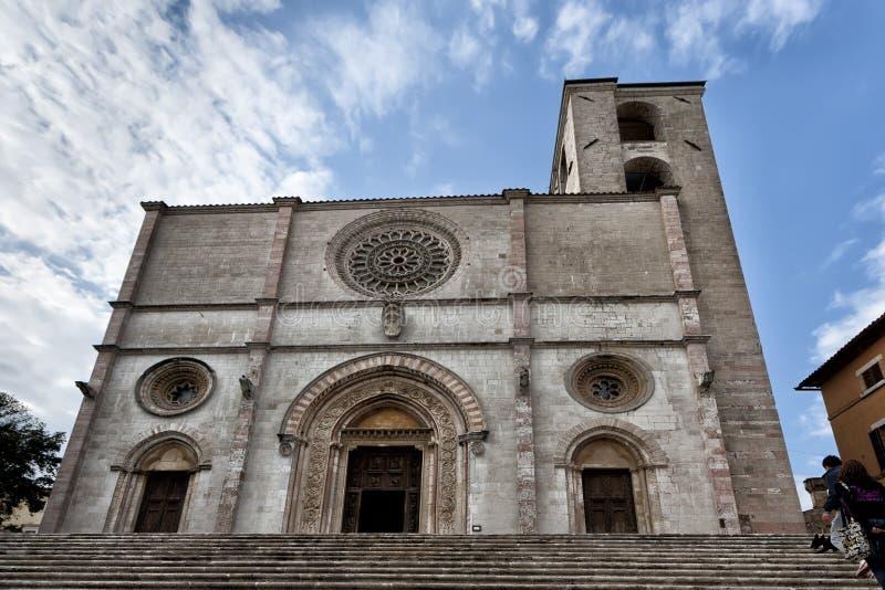 Une église dans Todi, vue d'Umbria Italy image libre de droits