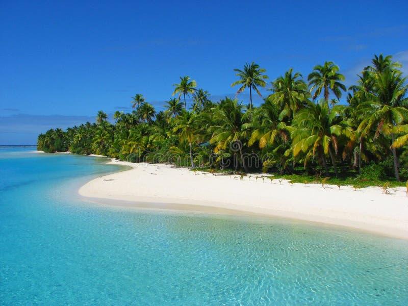 Une île de pied, îles Cook image stock