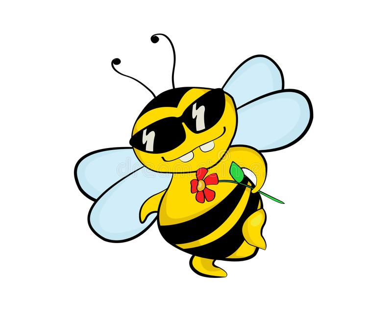 Une abeille de flirt illustration stock