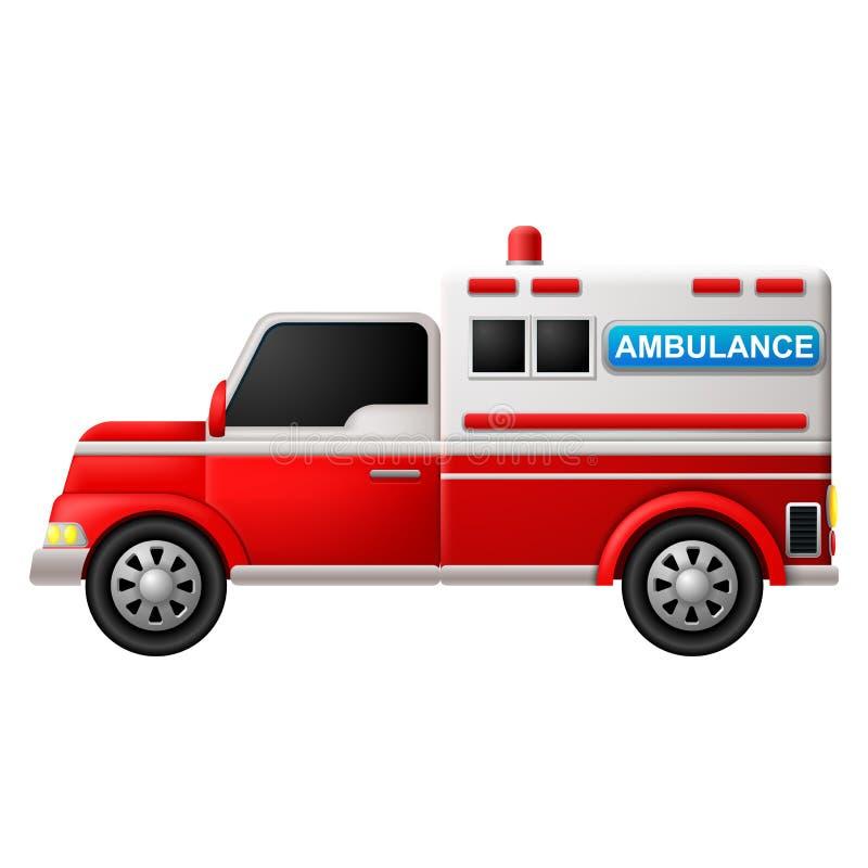une ambulance sur un fond blanc illustration de vecteur