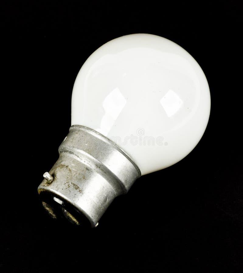 Une ampoule blanche du bas watt LED images libres de droits