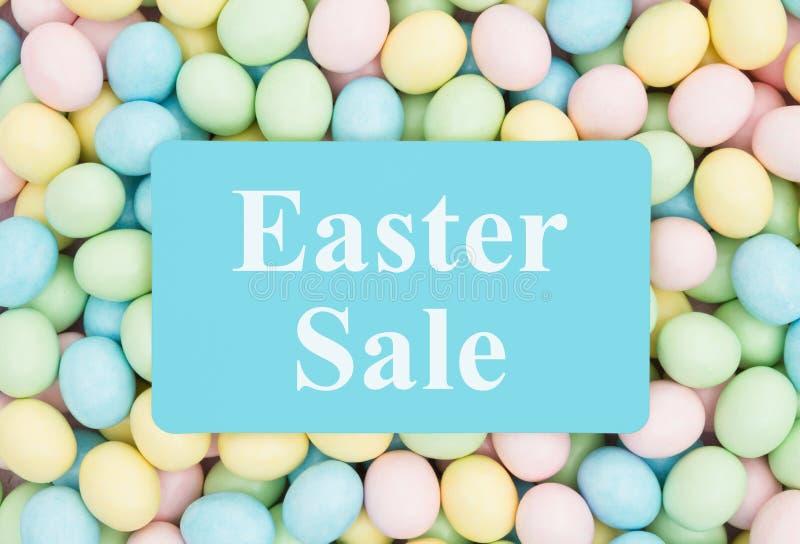 Une annonce en vente de Pâques images libres de droits