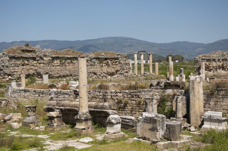 Une annonce Maeandrum, Turquie de magnésie de ville du grec ancien images libres de droits
