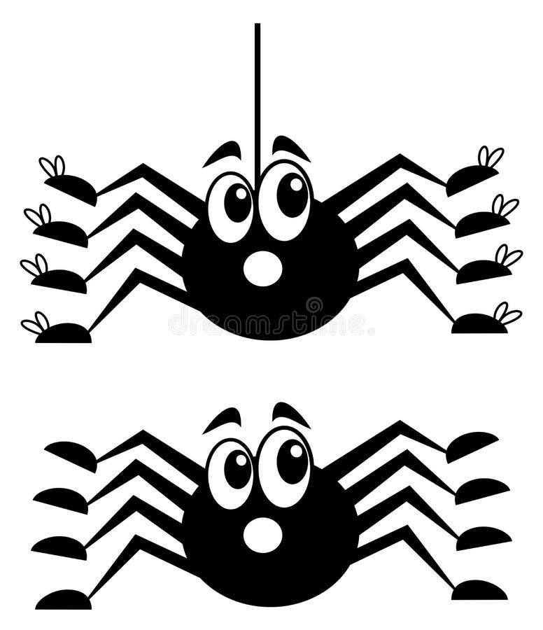 Une araignée étonnée avec des chaussures illustration stock