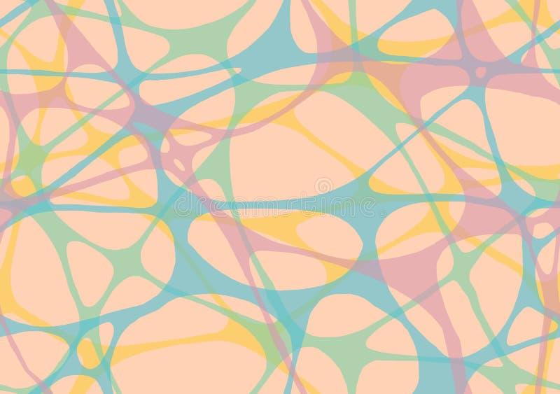 Une bande élastique abstraite de réseau illustration stock