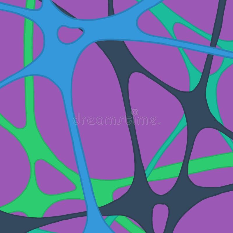 Une bande élastique abstraite de réseau illustration libre de droits