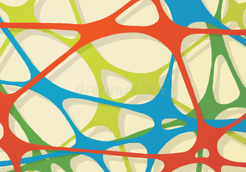 Une bande élastique abstraite de réseau illustration de vecteur